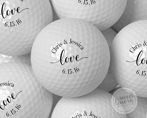 Love Personalized Golf Balls