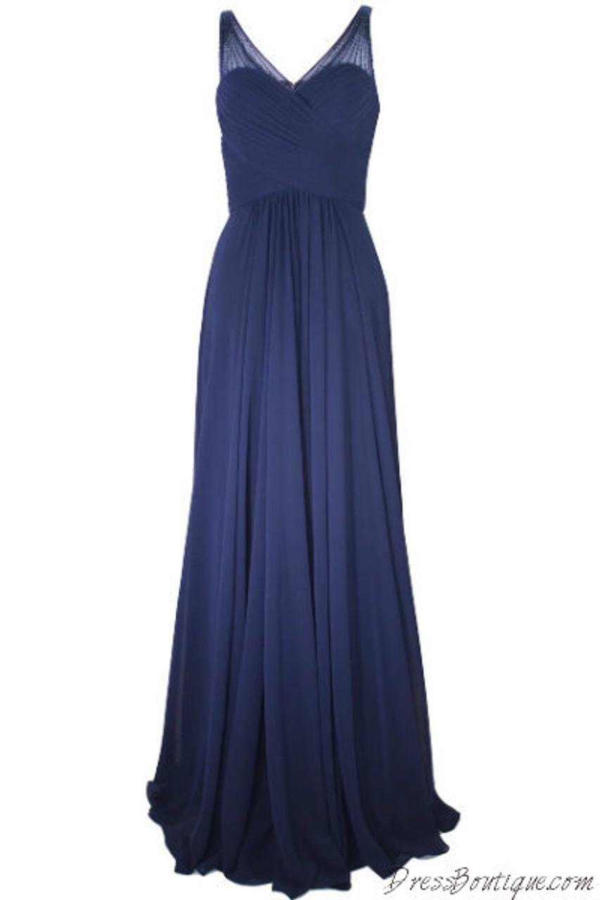 70fda9f6fbc5e Elegant Navy Evening Dress