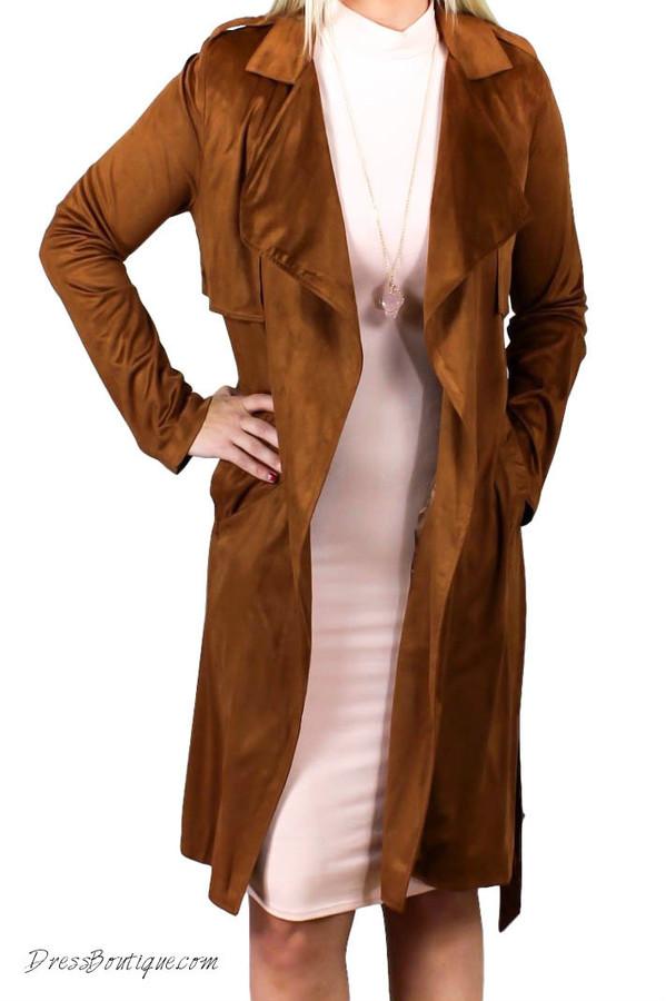 Camel Suede Coat Shop Women S Coats
