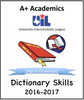A+ Dictionary Tests from 2016-17