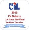CX Debate 2013 1A Semifinal #1