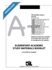 Elementary Academic Study Materials Booklet- Grades 2-6