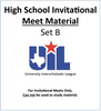 HS Invitational Meet Material 18-19 (Set B)