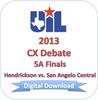 CX Debate 2013 5A Finals