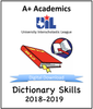 A+ Dictionary Tests from 2018-19