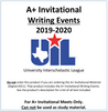 A+ Invitational Writing Events 19-20