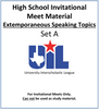 Extemporaneous Speaking Topics 19-20 (Set A)