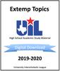 Extemporaneous Speaking Topics 2019-2020