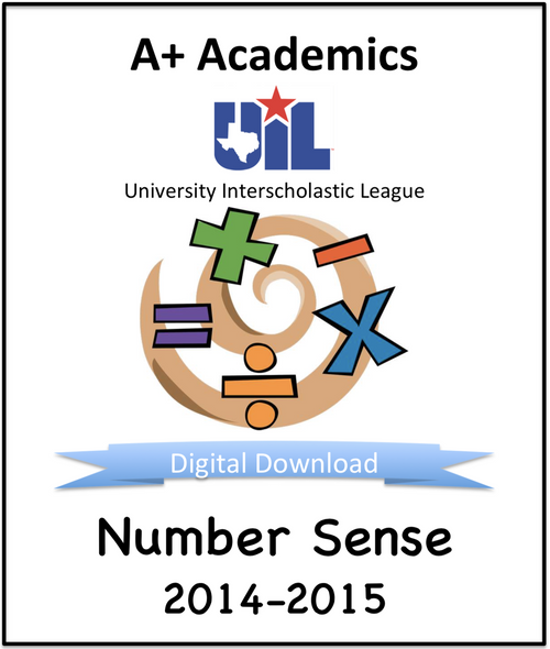 A+ Number Sense Tests from 2014-15