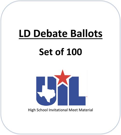 LD Debate Ballots (Set of 100)