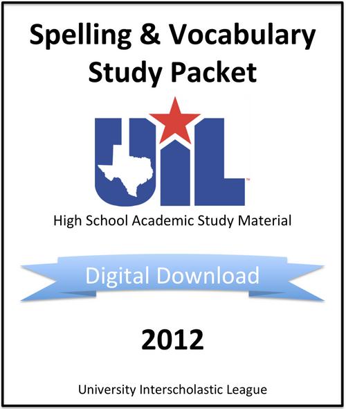 Spelling & Vocabulary 2012