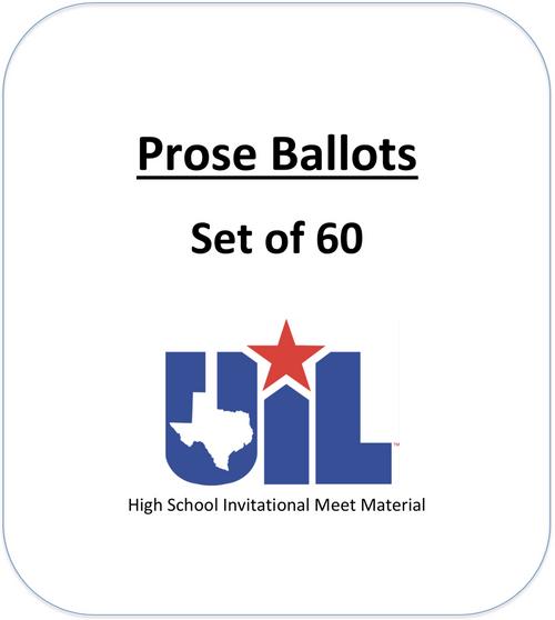 Prose Ballots (Set of 60)