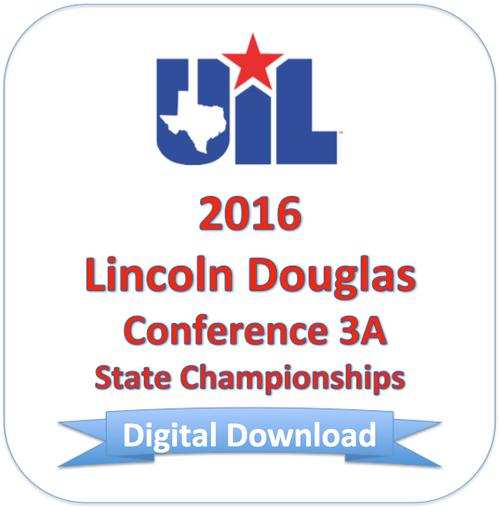 Lincoln-Douglas 2016 3A Finals