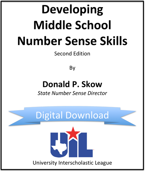 Developing Middle School Number Sense Skills (Digital Copy)