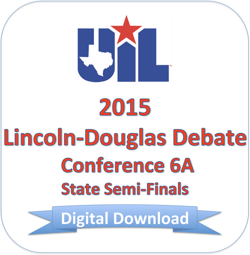 LD Debate 2015 6A Semi-Finals