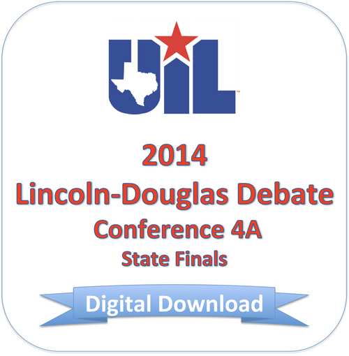 LD Debate 2014 4A Finals