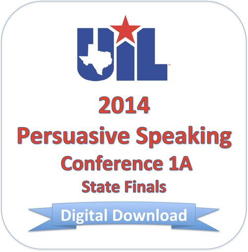 Persuasive Speaking 2014 1A Finals