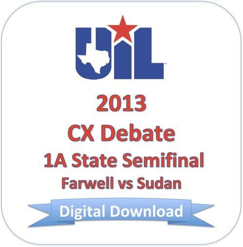 CX Debate 2013 1A Semifinal #2