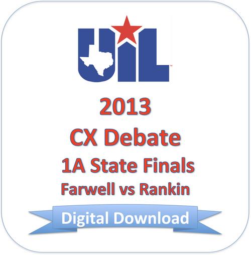 CX Debate 2013 1A Finals