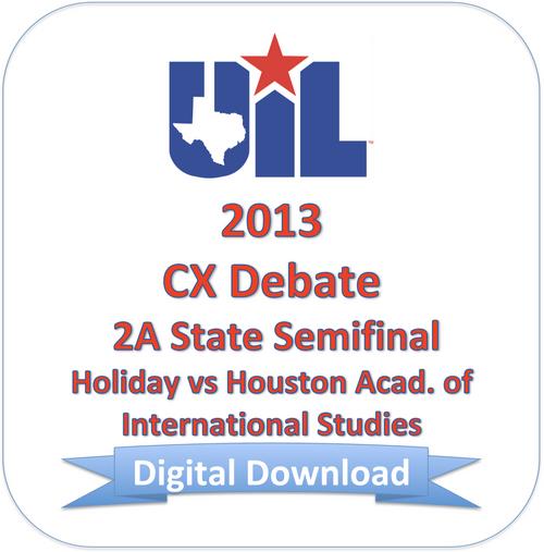 CX Debate 2013 2A Semifinal #1