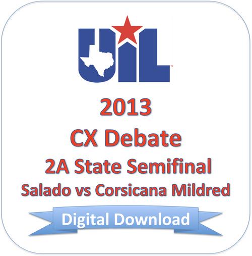 CX Debate 2013 2A Semifinal #2