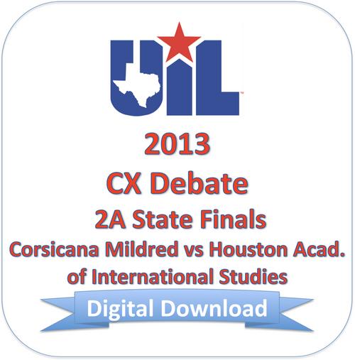 CX Debate 2013 2A Finals