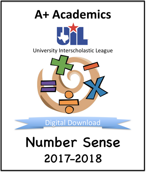 A+ Number Sense Tests from 2017-18