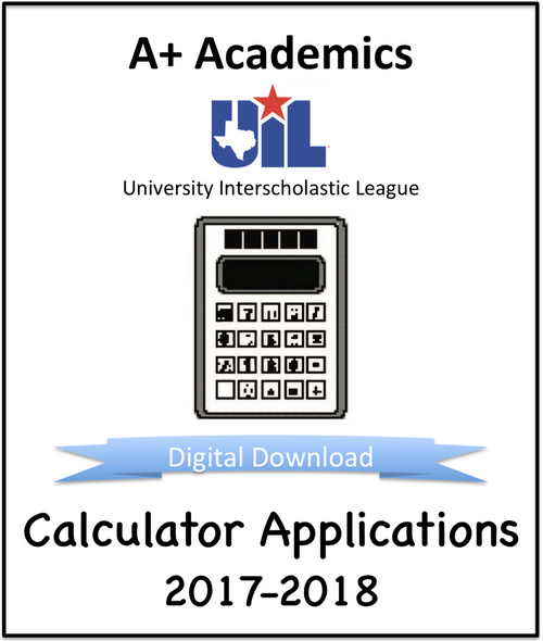 A+ Calculator Tests from 2017-18