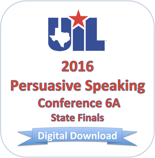 Persuasive Speaking 2016 6A Finals