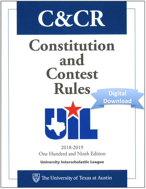 2018-2019 Constitution and Contest Rules (Digital)