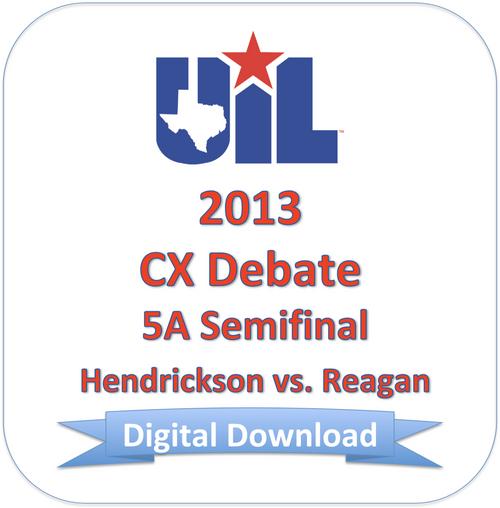 CX Debate 2013 5A Semifinal #1