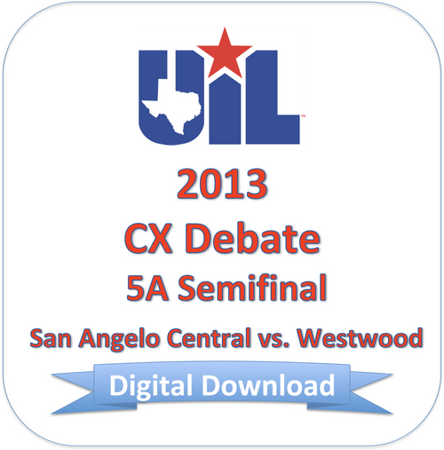 CX Debate 2013 5A Semifinal #2