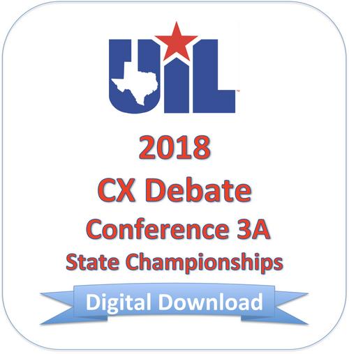 CX Debate 2018 3A Finals
