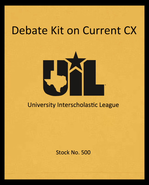 Debate Kit on Current CX Topic