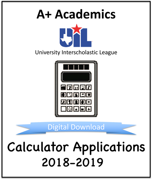 A+ Calculator Tests from 2018-19