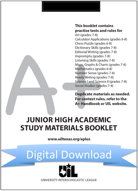 Junior High Academic Study Materials Booklet: Grades 7-8