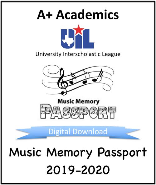 Music Memory Passport, 2019-2020 (Digital Download)