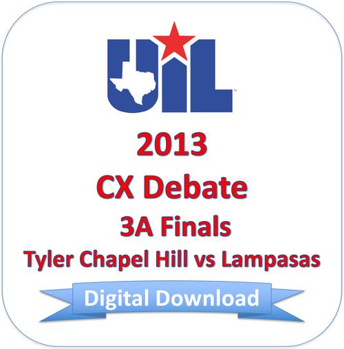 CX Debate 2013 3A Finals