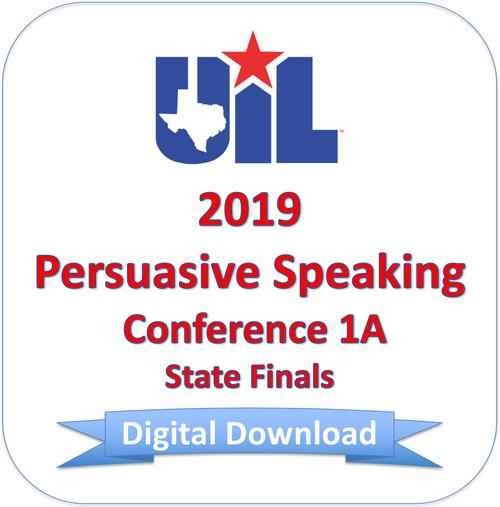 Persuasive Speaking 2019 1A Finals
