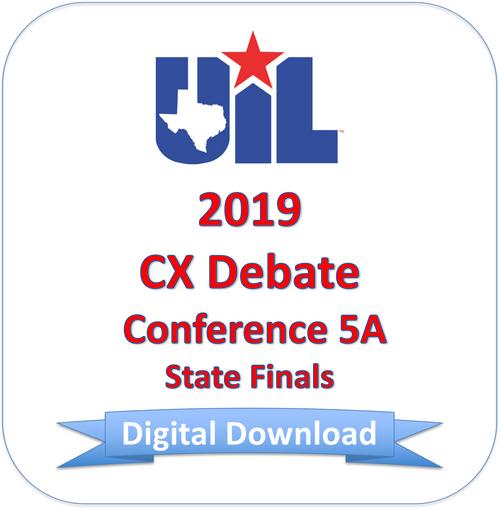 CX Debate 2019 5A Finals