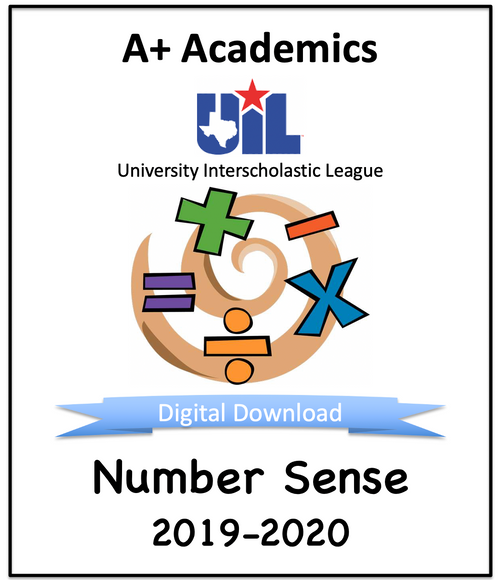 A+ Number Sense Tests from 2019-20