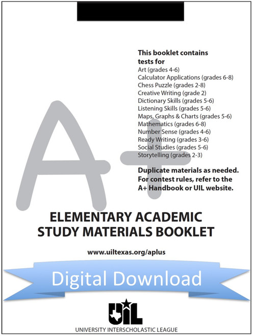 A+ Elementary Study Materials Booklet for 2020-21
