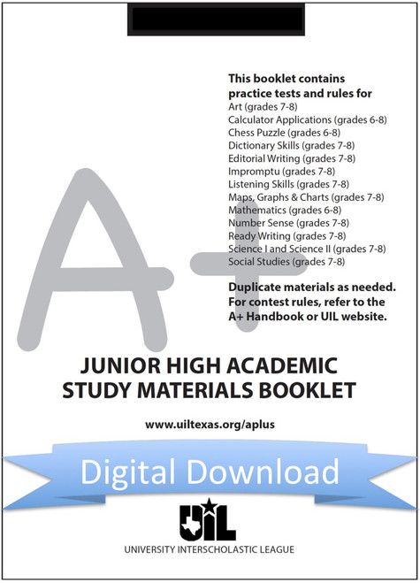 A+ Junior High Study Materials Booklet for 2020-21