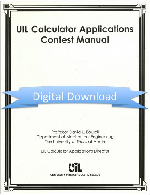 Calculator Applications Contest Manual