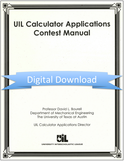 Calculator Applications Contest Manual