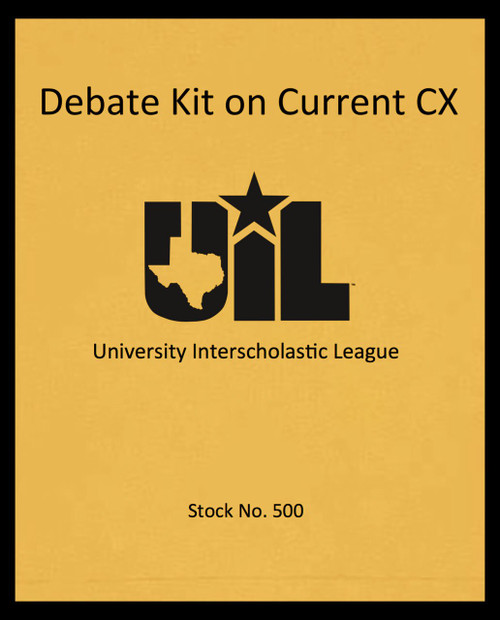 Debate Kit on Current CX Topic (2020-21)