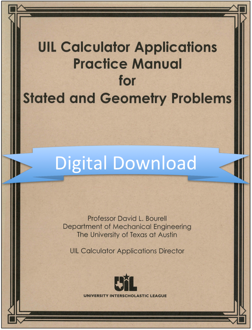 Calculator Applications Manual for Stated and Geometric Problems