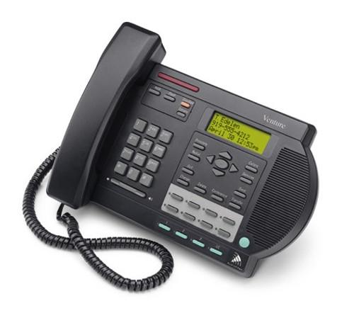 Nortel Venture 3 Line Analog Telephone - Black - Refurbished (NT2N81)