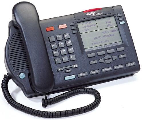 Nortel M3904 Digital Telephone - Black/Charcoal - Refurbished (NTMN34GA)