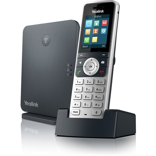 Yealink W53P IP Phone - Cordless - Corded - DECT - Wall Mountable, Desktop - Alabaster Silver, Classic Gray W53P